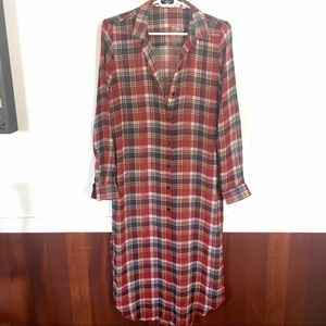BDG Plaid Shirtdress